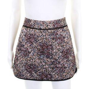 Comptoir Des Cotonniers Quilted Floral Skirt EU 40